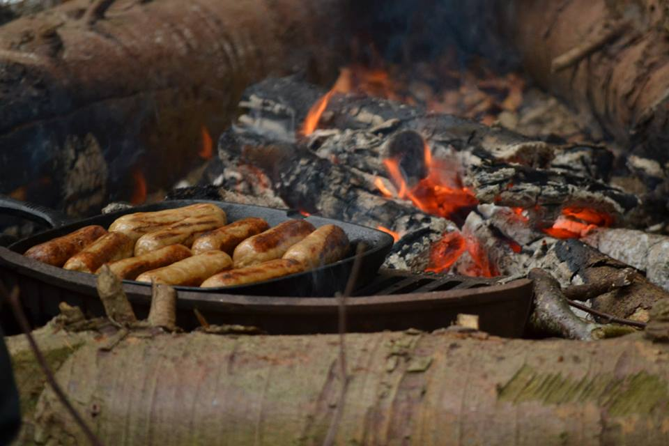Cooking Sausages, Colwyn Bay Forest School