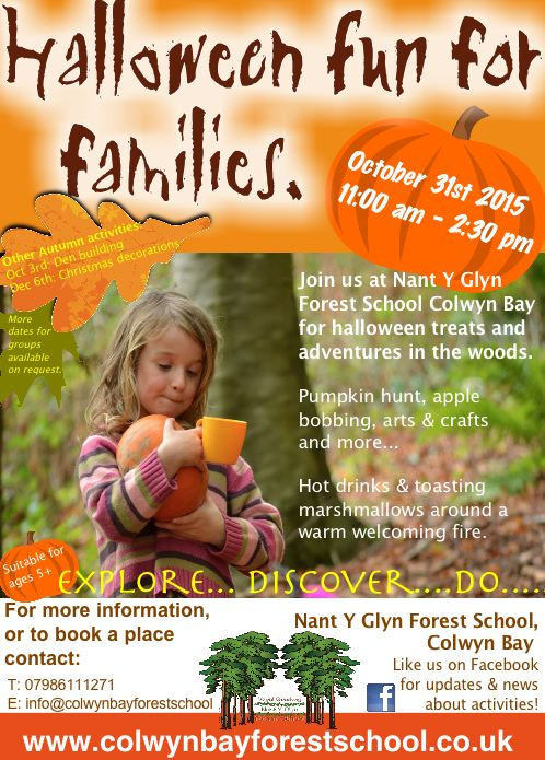 Halloween Fun, Family Sessions Colwyn Bay Forest School