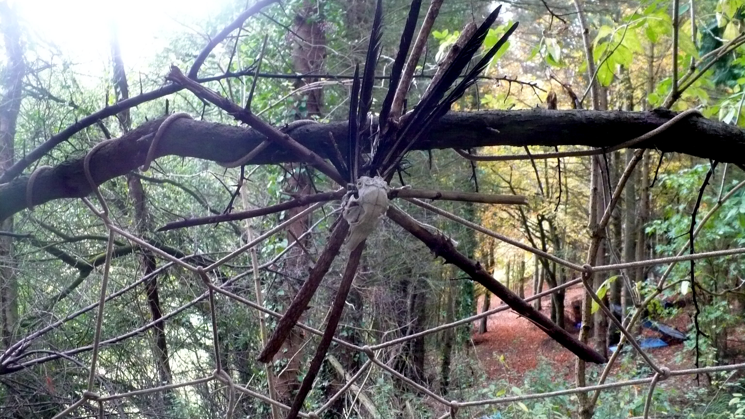 Dream catchers, Halloween Family Fun Sessions, Colwyn Bay Forest School