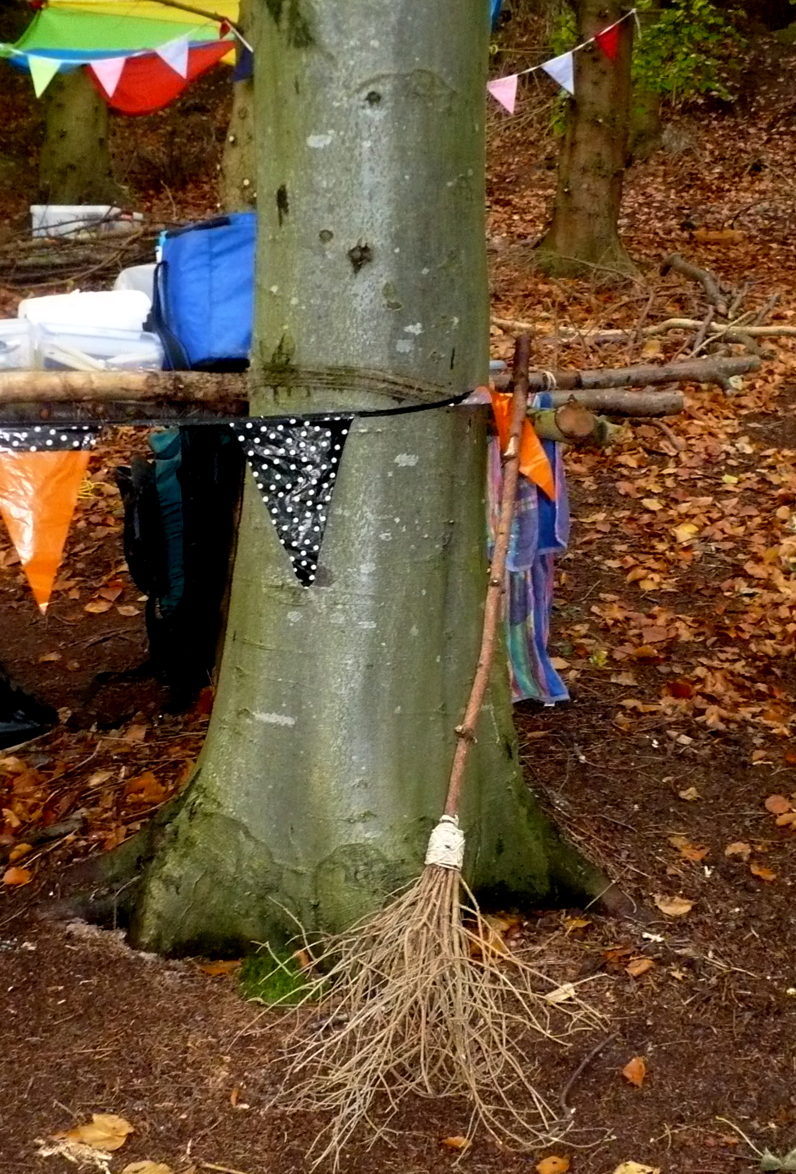 Making Broomsticks, Colwyn Bay Forest School